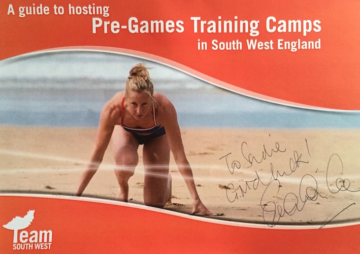 Team South West 2012 Training Camp Guide signed by Sebastien Coe